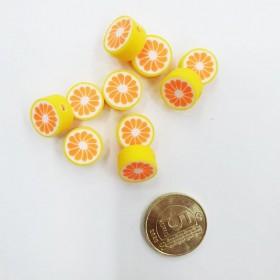 Mini Emaye Hamur Silikon Meyve Parçacıkları - Portakal