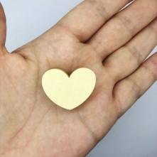 Kalp Model Cilasız Ahşap Aksesuar