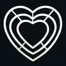 Plastik 3'lü Makrome Seti Kalp Şekilli