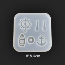 Minik Tekne Figürleri Reçine Epoksi Kalıbı - 108