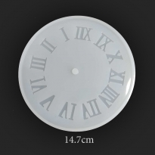 Reçine Epoksi Roma Rakamlı Saat Kalıp - 196