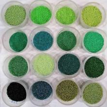 Kum Boncuk Yeşil Tonları