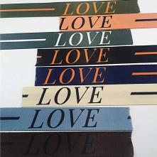 Desenli Şerit Bant Çanta Kolonu - Love