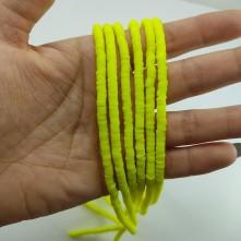 Fimo Hamur Boncuğu - Sarı 4mm