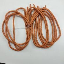 Fimo Hamur Boncuğu - Turuncu Desenli 5mm