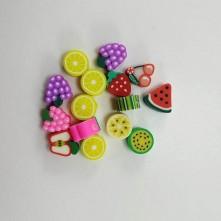 Emaye Hamur Boncuk - Karışık Meyve 15 Adet