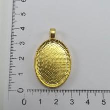 Metal Kolye Ucu - Oval