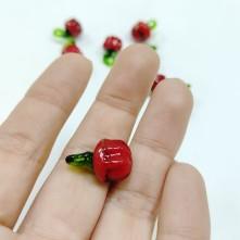 Cam Boncuk - Kırmızı Biber