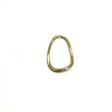 3 cm Burgu Oval Metal Kolye Ucu