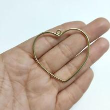 Metal Kolye Ucu - Büyük Kalp