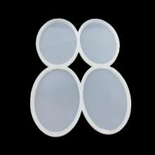 Dörtlü Oval Kalıp - Reçine Epoksi Kalıp - ÇB6