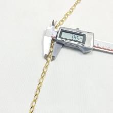 Takı Zinciri - Bileklik ve Kolye - 7.4 mm Gold