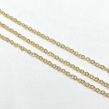 Takı Zinciri - Bileklik ve Kolye - 4 mm Gold