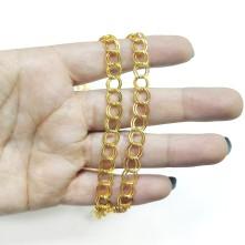 Takı Zinciri - Bileklik ve Kolye - 7.5 mm Gold