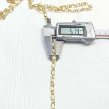 Takı Zinciri - Bileklik ve Kolye - 5.8 mm Gold