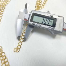 Takı Zinciri - Bileklik ve Kolye - 7 mm Gold