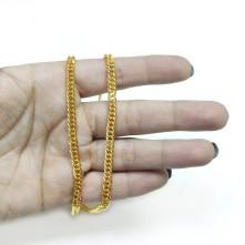 Takı Zinciri - Bileklik ve Kolye - 4.6 mm Gold