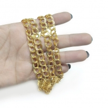 Takı Zinciri - Bileklik ve Kolye - 9 mm Gold