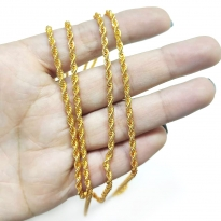 Takı Zinciri - Bileklik ve Kolye - 3 mm Gold