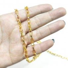 Takı Zinciri - Bileklik ve Kolye - 5 mm Gold