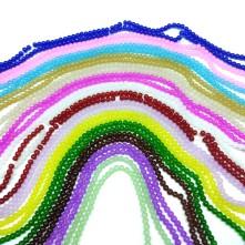 6 mm İpe Dizli Cam boncuk - Renk Seçmeli