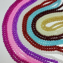 8 mm İpe Dizli Cam boncuk - Renk Seçmeli