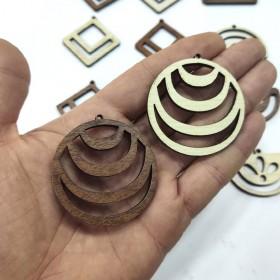 Tarama Makrome küpe kolye ahşap aparat