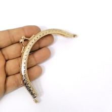 Metal Çanta Sapı 11 cm Oval Altın