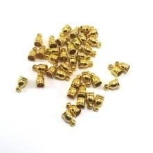 8mm Huni Boncuk Kapak - Gold