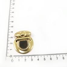 Kaplan Figürlü Gold Metal Çanta Klipsi