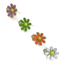 Büyük Çiçek Küpe Aparatı - Renk Seçmelı