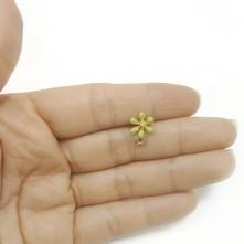 Küçük Çiçek Küpe Aparatı - Renk Seçmelı