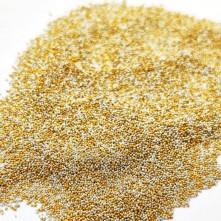 Kum Havyar Boncuk  Gold -Gümüş
