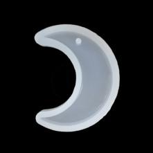 Reçine Epoksi Anahtarlık Ay Modeli Delikli A4