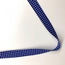 Toptan Puantiyeler Biye - 3 Cm Saks Mavi Biyetex