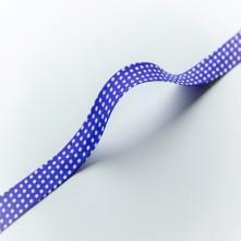Toptan Puantiyeler Biye - 3 Cm Mavi Biyetex