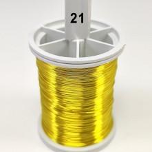 Sarı Filografi Teli 30 No - 21