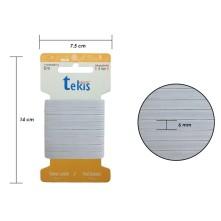 6 mm Beyaz Yassı Lastik - 5 Metre