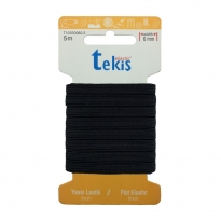6 mm Siyah Yassı Lastik - 5 Metre