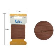 6 mm Kahve Yassı Lastik - 5 Metre