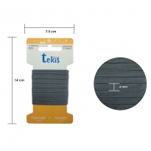 6 mm Gri Yassı Lastik - 5 Metre
