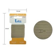 6 mm Bej Yassı Lastik - 5 Metre