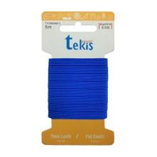 6 mm Koyu Mavi Yassı Lastik - 5 Metre