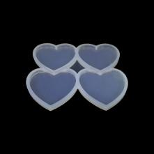 Dörtlü Kalp Reçine Epoksi Kalıbı