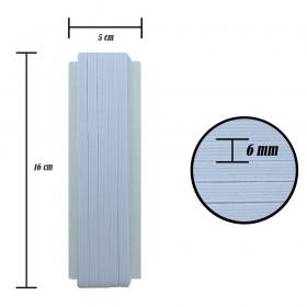 6 mm Beyaz Yassı Lastik - 10 Metre