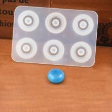 12 mm İnce Yassı Boncuk Reçine Epoksi Kalıp - 91