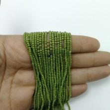 İpe Dizili Kristal Boncuk Çimen Yeşili