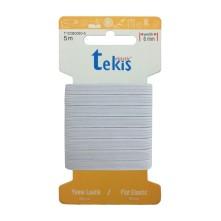 10 mm Beyaz Yassı Lastik - 5 Metre