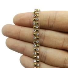 Ütü İle Yapışan Savaroski Taşlar - Gold Kristal