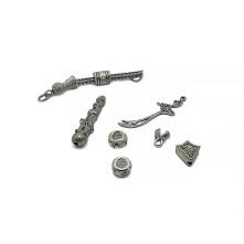 Tesbih Seti Gümüş Kılıç Figürü Model - Toptan